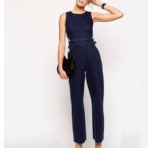 Asos Denim Cutout Jumpsuit